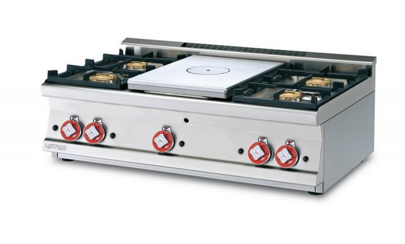Cucina a gas professionale AFP/TP4T-610G