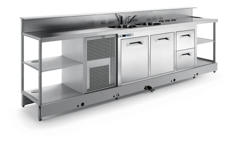 Banco bar refrigerato statico BBL3000AB3P