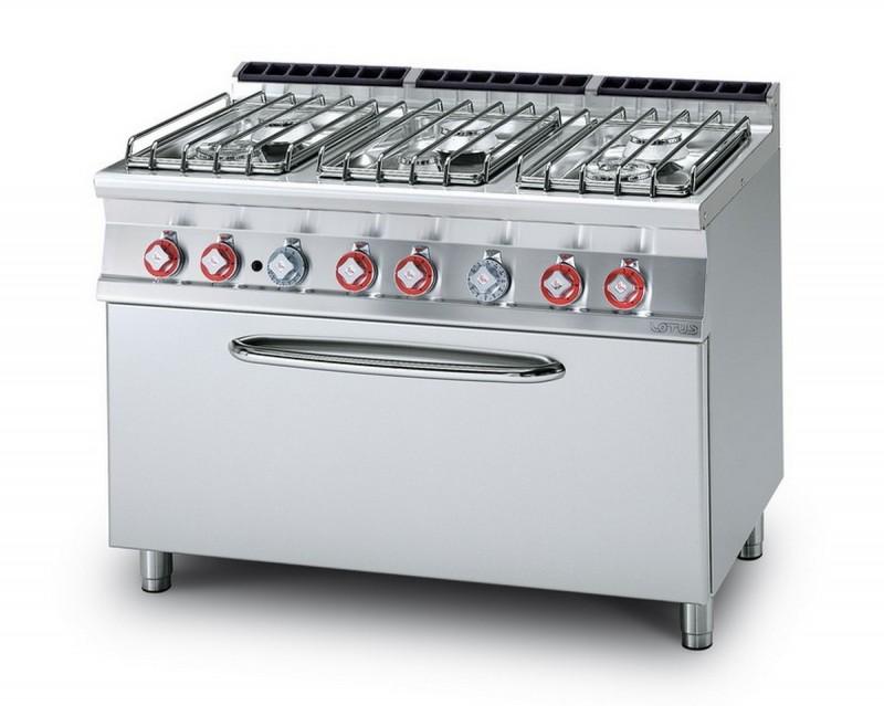 Cucina a gas professionale AFP/ CF6-712GP