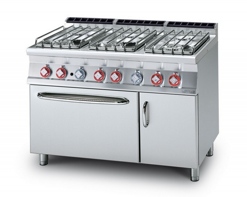 Cucina a gas professionale AFP/ CF6-712GPEV