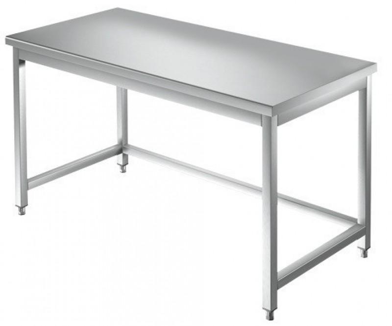 Tavolo inox da lavoro con cornice su tre lati