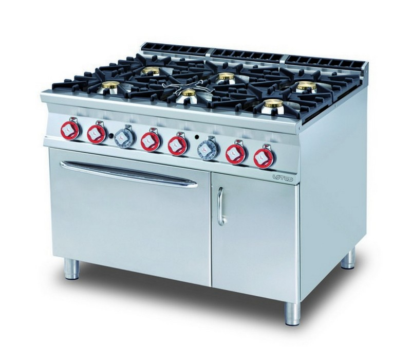 Cucina a gas professionale AFP/ CF6-912GV