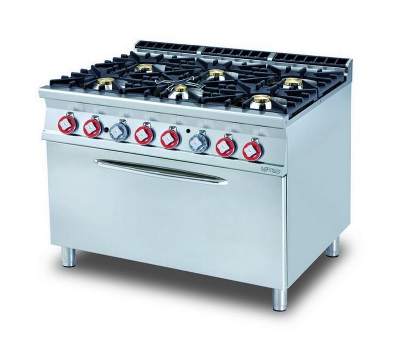 Cucina a gas professionale AFP/CF6-912GE