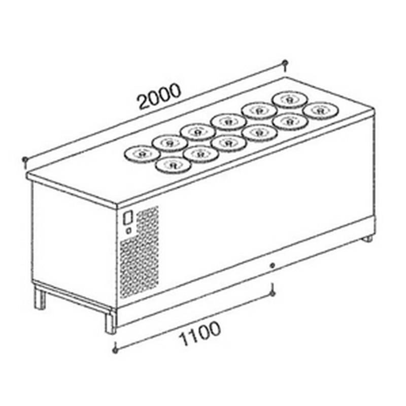 Banco pozzetti gelato BPL 2000BGLI/12