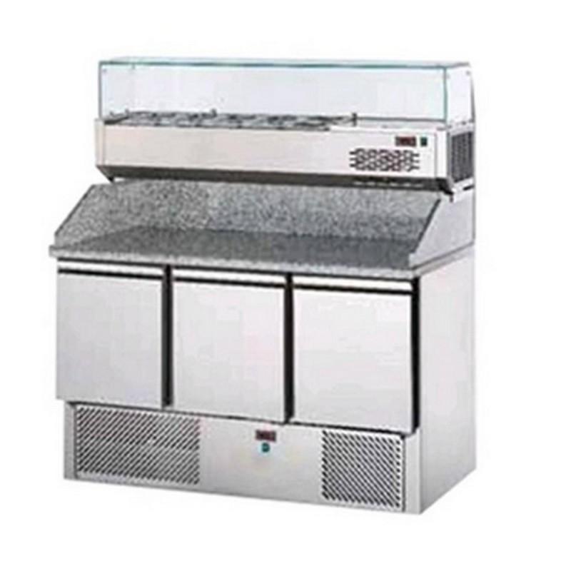 Banco frigo pizzeria AFP/SL03PZVR4  in acciaio inox