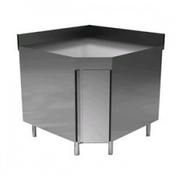 Tavolo inox ad angolo 90°