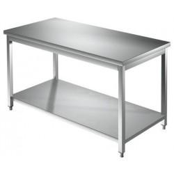 Tavolo inox da lavoro con ripiano inferiore