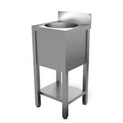 Lavello acciaio inox AISI AFP/BL4 con basamento a giorno
