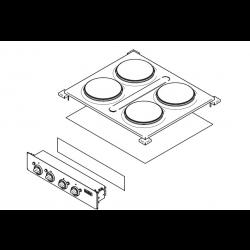 Fornelli elettrici professionali AFP/ 6060-PCED