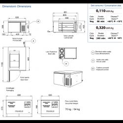 Abbattitore industriale di temperatura AFP/ ST3-11