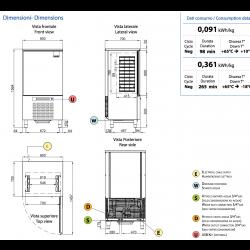 Abbattitore industriale di temperatura AFP/ ST10-32