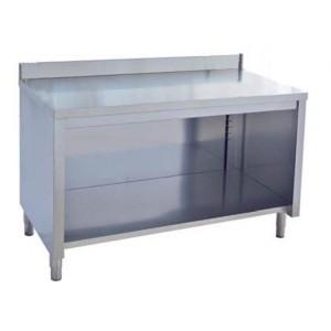 Tavolo inox armadio a giorno