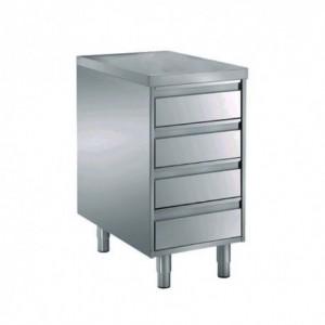 Tavoli acciaio inox con cassettiera