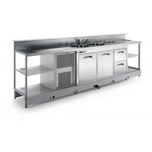 Banco bar refrigerato statico BBL4500AB4P