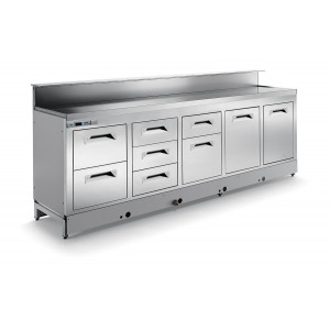 Banco bar refrigerato statico BBL2000AB3P