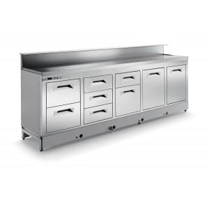 Banco bar refrigerato statico BBL3000AB4P