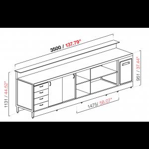 Banco bar neutro BBL3500AB