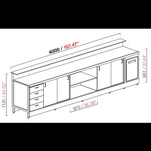 Banco bar neutro BBL4000AB