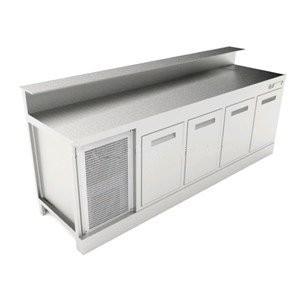 Banco bar refrigerato statico BBL2500AB4P con predisposizione per bancalina