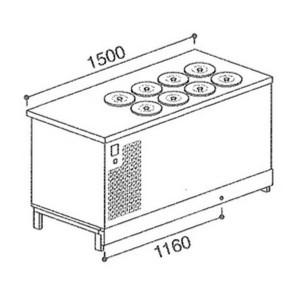 Banco pozzetti gelato e granita BPL1500BSTA/8