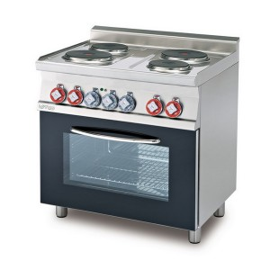 Cucina a gas professionale 4 fuochi AFP/ PC-6F