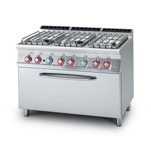 Cucina a gas professionale AFP/ CF6-712GPE