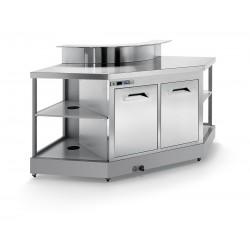 Corner Bar Squared IA1 / 90 ° AB predisposition for counter top