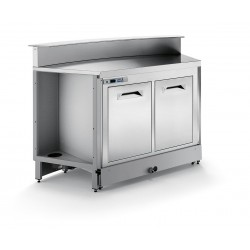 BBL1000AB static refrigerated bar counter with counter top setting