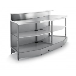 Curved bar bench BB2 / 45 ° with provision for counter top
