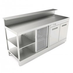 Static refrigerated bar counter BBL2000AB with counter top setting