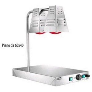 Floor with heating lamp for infrared food AFP / PCI4717