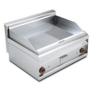 Electric fry top AFP / FTLR-8ET 1/2 smooth plate 1/2 lined plate