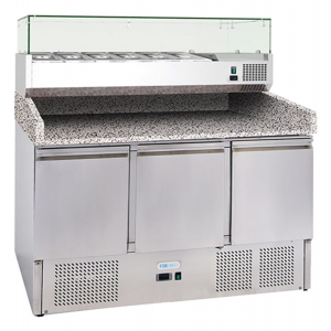 AFP / G-S903PZVRXGLASS FC tn fridge table in stainless steel
